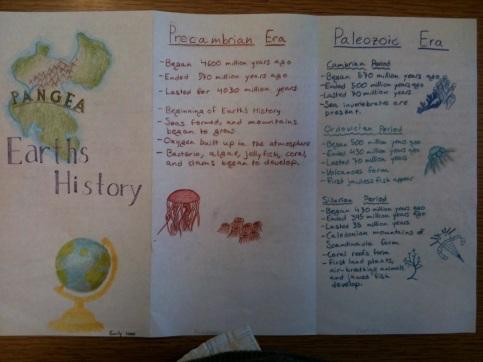 Geologic Time Brochure example 1